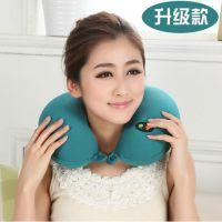 新款 U型枕 办公室午睡颈椎按摩枕 旅行舒适护颈枕 保健记忆枕