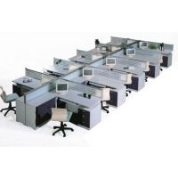供应家具厂定做桌面规格为1.4x1.2屏风办公桌。厂家直销,价低!