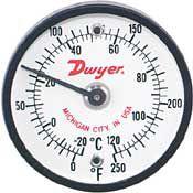 供应DWYER ST系列双金属表面安装温度表
