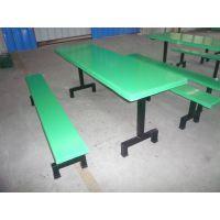 供应斗门玻璃钢餐桌批发,中山工厂饭堂餐桌椅台面凳面和谐统一生产