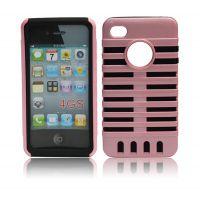 苹果iphone4手机,苹果手机简约优雅二合一麦克风保护壳