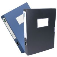 5603 A4 档案盒 3寸文件盒 粘扣资料盒 塑料收纳盒  黑色 蓝色