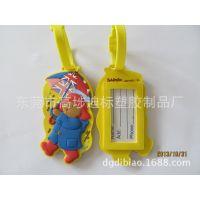 供应厂家直销环保pvc软胶卡通立体公仔行李牌 旅行袋吊牌 滴胶挂牌