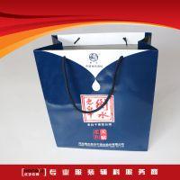 手提袋灰板纸覆膜手提纸袋酒水药品服装手提袋生产厂家龙港包装