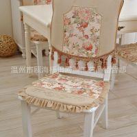 厂家直销欧式田园毛绒绣花椅子坐垫 餐椅垫椅套加厚可以拆洗批发