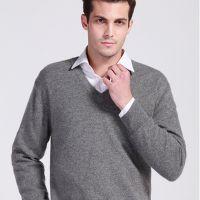 2014秋冬新款男士羊绒衫v领毛衣男式宽松套头针织衫羊毛衫正品