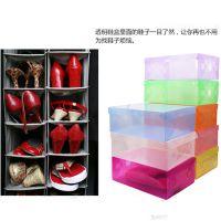 T 透明鞋盒子加厚塑料鞋盒翻盖式抽屉式收纳鞋盒子 400/箱 70g