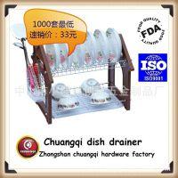 【正规品质】碗碟架 CQ1005-16寸 厨房用品 1700g 双层金属碗碟架