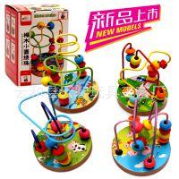 厂家直销/批发木制玩具/益智玩具榉木迷你小绕珠儿童早教益智玩具