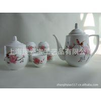 供应水点桃花茶壶茶具 景德镇陶瓷茶具定制加工