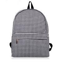 女包2014新款潮布包双肩书包格纹学生女背包