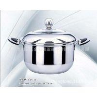 供应不锈钢欧式奶锅 单/复底欧式奶锅配可视组合盖 单柄/双耳奶锅