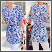 2014韩版夏装新款大码女装中长款t恤雪纺上衣打底衫宽松