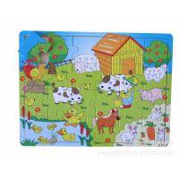 厂家直销 快乐的农场 儿童智力玩具 木制玩具