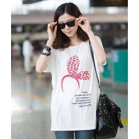 528#2014韩版胖mm大码宽松蝙蝠袖中长款圆领短袖T恤打底衫上衣女
