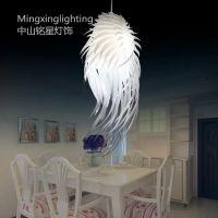 供应铭星天使之翼吊灯时尚简约羽毛造型灯具餐厅过道卧室灯饰厂家批发