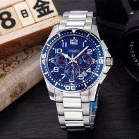 厂家直销 康卡斯潜水系列 瑞士男士运动休闲多功能钢带手表