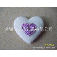 白色毛绒心型 双层心型 超声波电压爱心 玩具心型