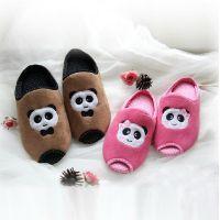 厂家直供 新款外贸情侣拖鞋 熊猫室内棉鞋子 秋冬批发