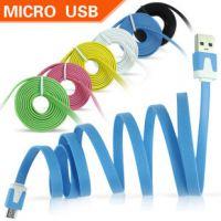 小面条彩色USB Micro数据线小米 HTC 摩托 索爱 三星 奔迈充电线