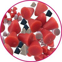 优质树脂抛光磨料,塑胶研磨石生产,定制塑磨抛光料