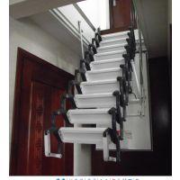 石家庄 保定阁楼折叠楼梯很方便 阁楼小楼梯 半自动阁楼伸缩楼梯厂家
