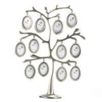 HOMEQI创意家庭树相框baby儿童成长相框12片叶金属照片墙相框9476