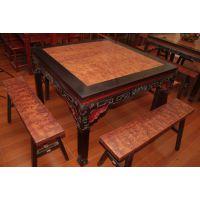 花梨木家具 实木餐桌 方桌八仙桌 五件套