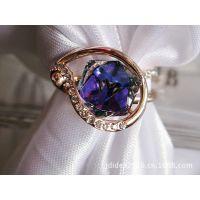 V 0560 变色转运水晶戒指  外贸戒指 专柜正品 高品质水晶饰品