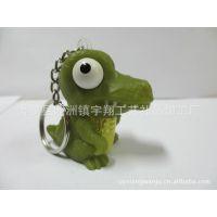 挤眼爆眼发泄公仔 整蛊 恐龙玩具 搪胶钥匙扣 减压解压爆款玩具