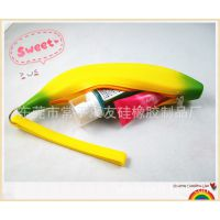 硅胶香蕉钱包 硅胶水果钱包 硅胶迷你钱包 拉链包 硅胶外贸礼品