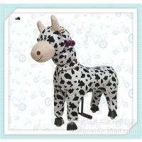 现货 新品 毛绒玩具马 非电动诸葛马 益智健身 吉祥物批发 奶牛