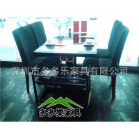餐厅四人位大理石材火锅餐桌子 有配带电磁炉餐桌