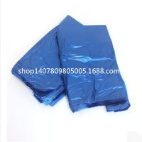 蓝色塑料袋大号中厚背心袋垃圾袋马夹袋包装袋服装袋批发55*78