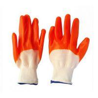 厂家生产销售PVC手套 全挂胶手套 浸胶 耐磨防水耐油手套