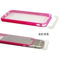 直销苹果手机套 苹果6手机保护套 iphone6双色透明全包亚克力套