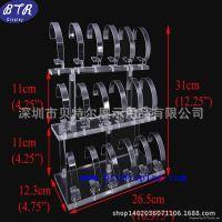 供应深圳厂家订做亚克力电子手表陈列架/压克力透明手表展示架