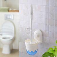 速卖通货源 批发强力吸盘马桶刷 洁厕浴室清洁刷 含吸壁架马桶刷