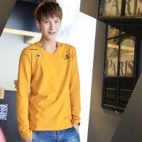 秋季男士韩版修身上衣  高贵纯棉品质长袖打底衫 001甲-L333