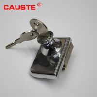 【CAUSTE】玻璃双门锁 商场展示柜门锁 玻璃柜锁 玻璃橱窗锁橱门