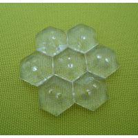 六角形亚克力水晶扣透明扣毛衣扣纽扣服装辅料库存可定做