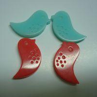 加工定制 小鸟状树脂胶钮扣 环保优质胶钮