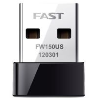 供应FAST迅捷 FW150US迷你型USB无线网卡/150M/超小型无线网卡接收器