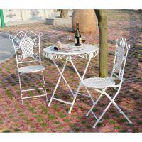 铁艺折叠休闲桌椅套件 阳光舒适三件套桌子椅子花园庭院阳台桌椅