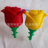 市场火爆产品 玫瑰花U盘外壳 塑胶U盘外壳 可定制