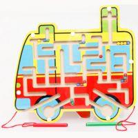 益智玩具环形轨道磁性迷宫 运笔搬运迷宫 开发儿童智力滑珠子游戏