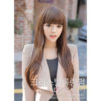 假发批发 日 韩国 时尚 假发 长直发 齐刘海可爱女生 假发厂直销