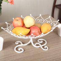 欧式铁艺水果盘 创意果盘  时尚小礼品 客厅餐桌水果盘现货批发