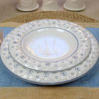 【安纳西O】高档欧式青花陶瓷餐盘西餐盘圆盘牛排盘餐具