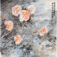 Traditional Chinese Birds and Charming Peony